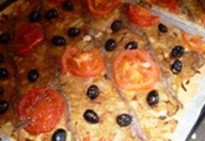 Pissaladiere à la boulangerie de Serverette