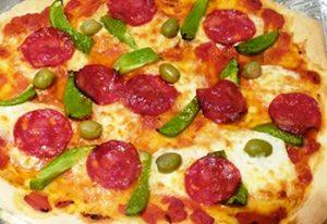 Pizza aux poivrons à la boulangerie Serverette