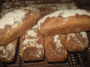Pain à la farine de bise à la boulangerie de Serverette
