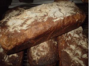 Pain semi-complet à la boulangerie de Serverette