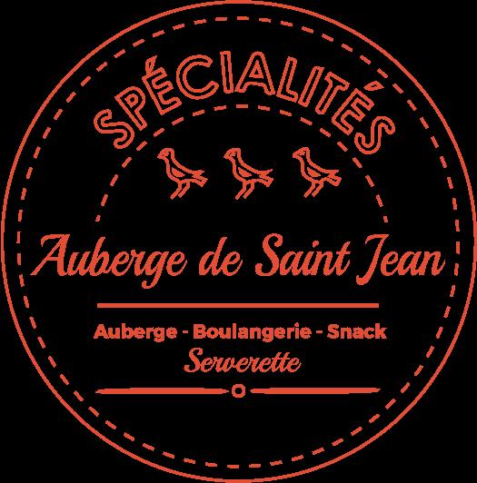 Logo de l'Auberge de Saint Jean à Serverette Boulangerie Snack