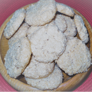 Biscuits noix de coco cannelle en vente à l'Auberge Boulangerie de Saint Jean à Serverette